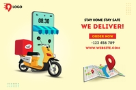 Home delivery service 横幅 4' × 6' template