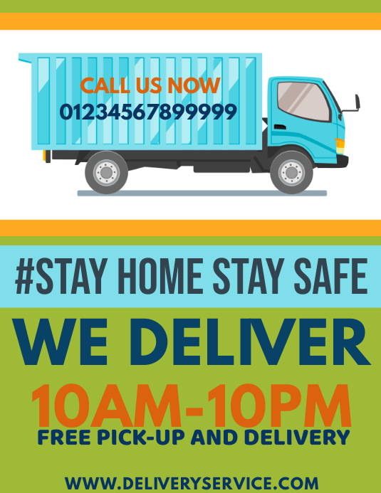 Home Delivery Service Flyer Template   PosterMyWall