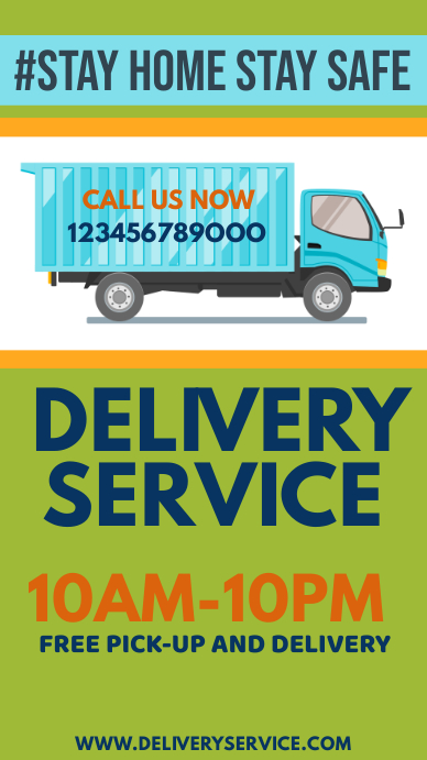 Home Delivery Service Instagram Story template