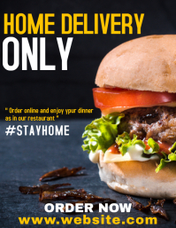 Home delivery service restaurant flyer