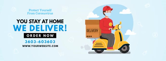 Home Delivery Services รูปภาพหน้าปก Facebook template
