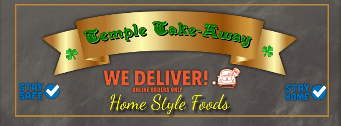Home Delivery Take-Away Facebook-coverfoto template