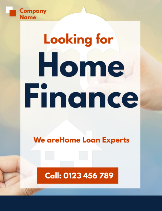 home finance flyer template