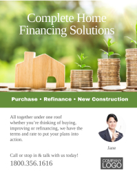 Home financing Flyer Poster Ad template