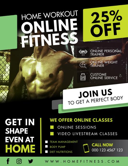 Home Fitness App Flyer Design