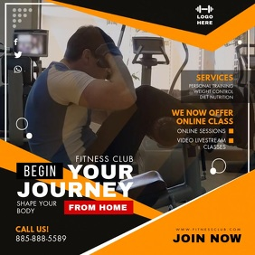 Home Fitness Workout Program Video Ad