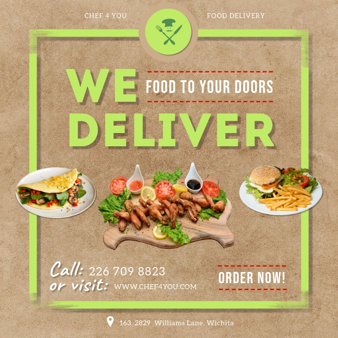 Home Food Delivery Service Advertisement Template ...