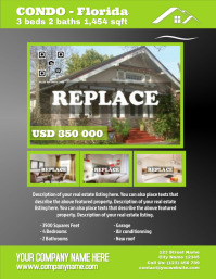 Home for sale - Letter size (new version) Pamflet (Letter AS) template