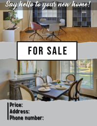 home for sale Flyer (US Letter) template