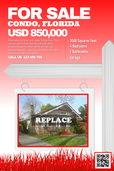 home for sale by owner flyer template - red flyer home for sale by the owner template postermywall