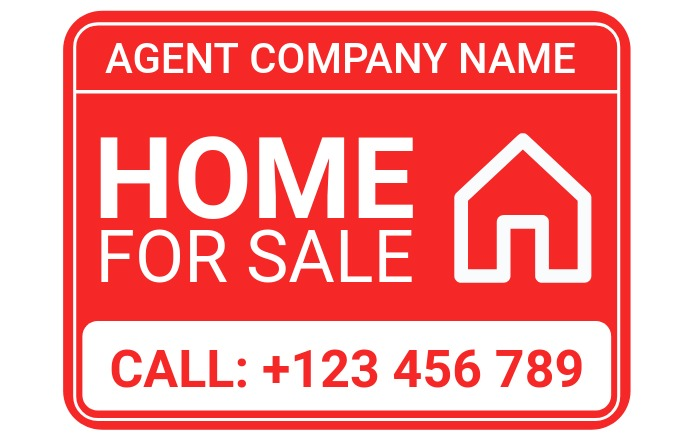 Home for Sale Sign - Home for Rent Sign Poniekoerant template