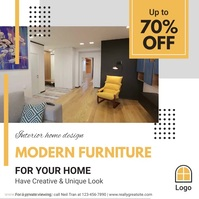 Home Furniture Sale Advertisement Social Medi Square (1:1) template