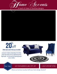 Home Furniture Store Flyer