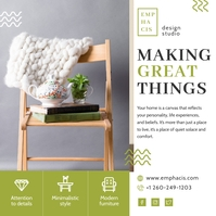 Home Handcrafted Furniture Social Media ad Iphosti le-Instagram template