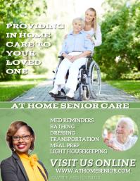 Home Health Aide Elder Service Caregiver ใบปลิว (US Letter) template