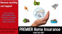 home insurance/coverage/prrotection plan/auto Publicación de Twitter template