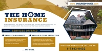 Home Insurance Service Ad Facebook Post Templ template