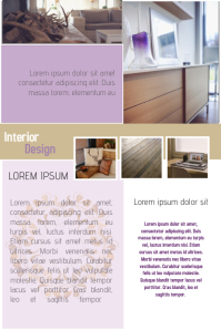 home interior purple and brown design poster