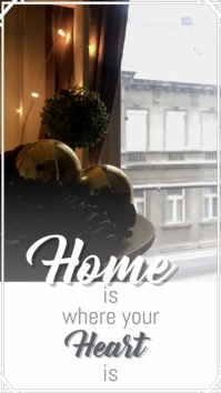 Home is where your heart is video design 数字显示屏 (9:16) template