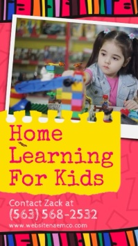 Home Learning For Kids Instagram Story Instagram-Story template