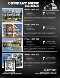 Home listing flyer template - Letter size version