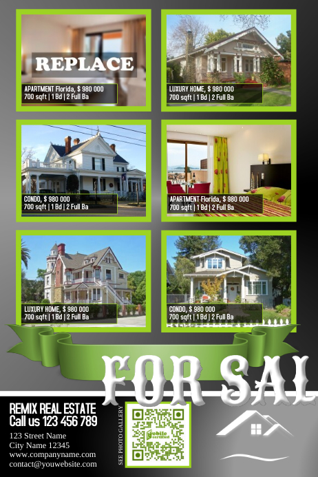 Home listing flyer with big photos