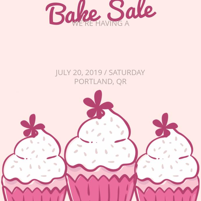 Home Made Bake Sale Social Media Template Instagram 帖子