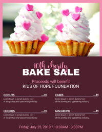 Home Made Bake Sale Social Media Template