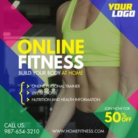 Home Online Fitness Workout square video