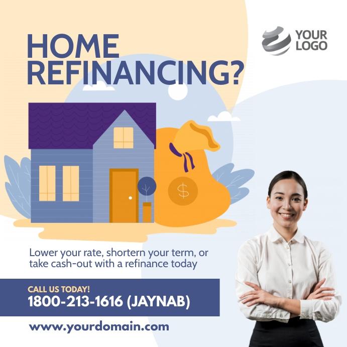 Home Refinancing Flyer Template Instagram