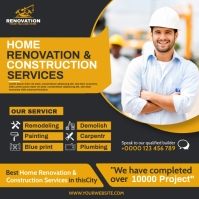 HOME RENOVATION & CONSTUCTION SERVICES FLYER template