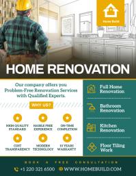 Home renovation contractor flyer design template