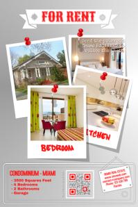 Home rental flyer - Red