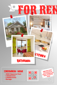 Home Rental Flyer   Red  For Rent Flyer Template