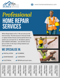 Home Repair Service Tear Off Flyer