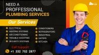 home repair services Affichage numérique (16:9) template