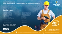 home repair services Twitter Post template