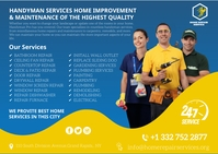 home repair services Postcard template