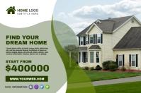 Home sale Banner Transparent 4 stopy × 6 stóp template