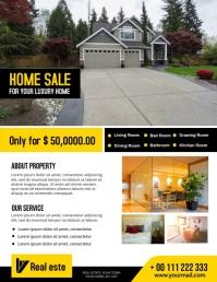 home sale flyer Рекламная листовка (US Letter) template