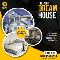 home sale flyer โพสต์บน Instagram template