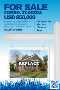 Home sale flyer - Blue
