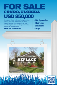 Home sale flyer - Blue