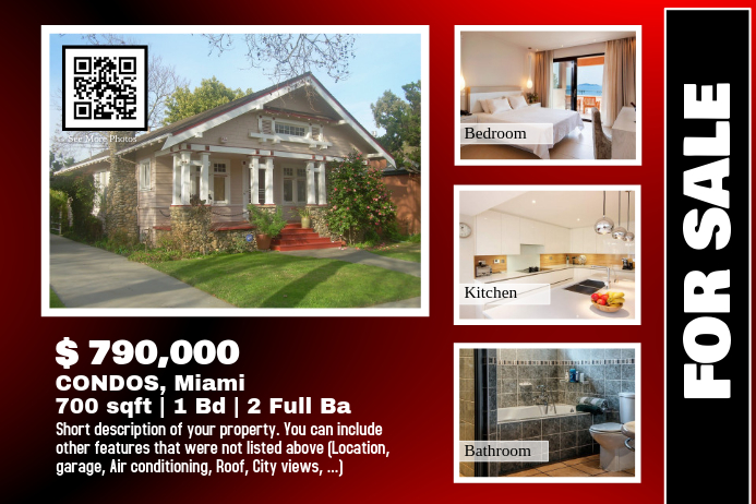 Home sale flyer - For single property listing (Glossy version)