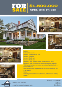 Real Estate Flyer Template Home Sale