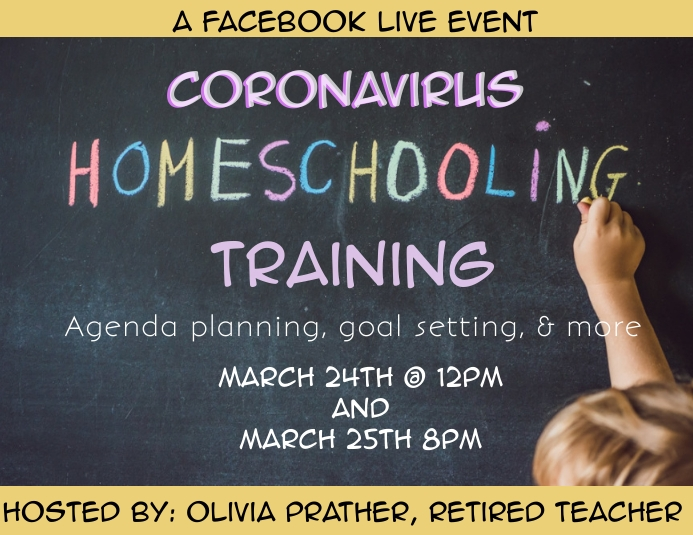 Home school learning Corona shutdown fb live
