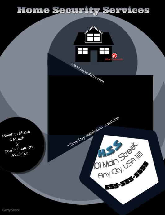 Home Security Service Video Flyer