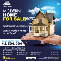 home sell flyer Instagram Post template