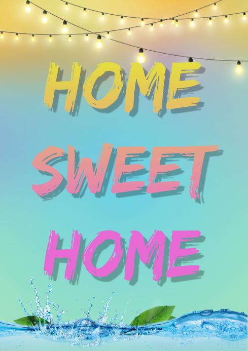 home sweet home A4 template