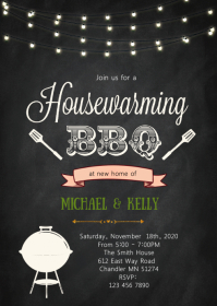Home sweet home party theme invitation